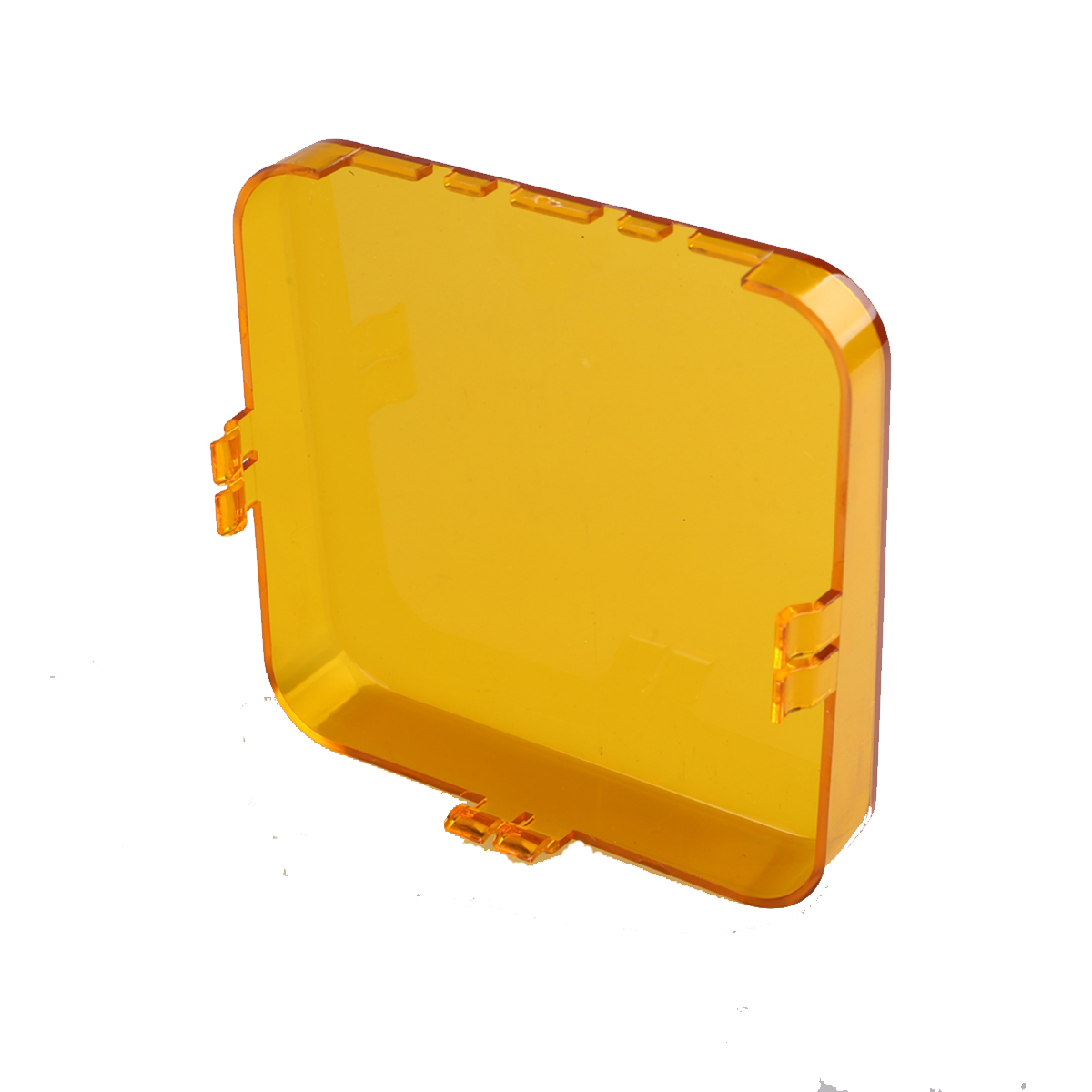 """1X Snap On Amber Lens Cover For 4.3/"""" inch 48W Square LED Work Light Offroad 4WD"""