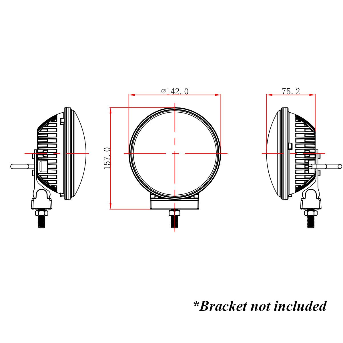 2x 5 6 u0026quot  36w round led work light spot fog driving head lamp offroad truck 4wd