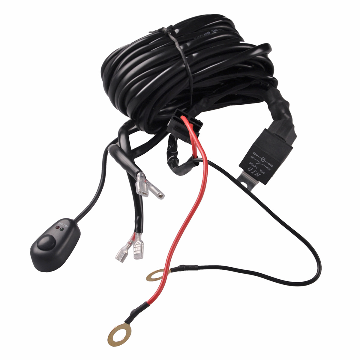 Wiring Harness Kit Fuse Switch Relay Offroad Car Light Bar Dual Led Off Road Lights With Twin