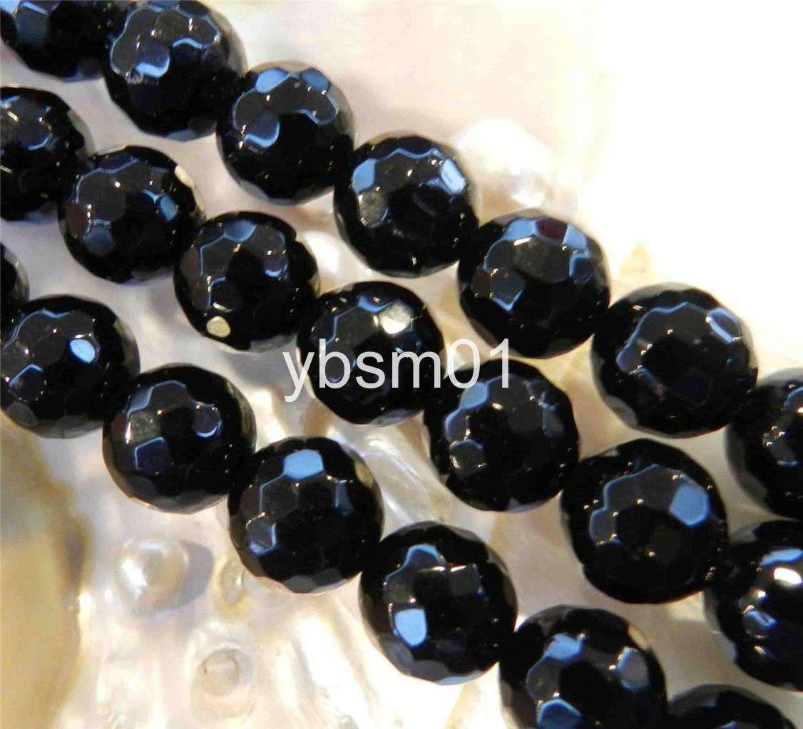 New 13x18mm Black Agate Oval Gemstone Loose Bead 15/'/' AAA