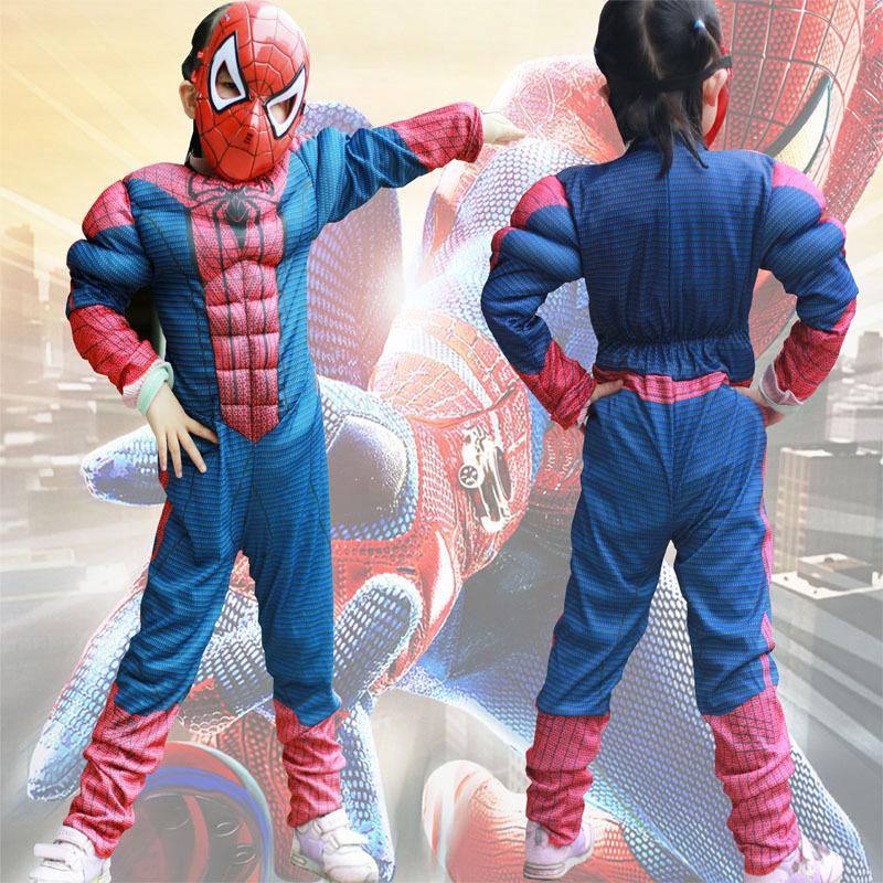 Kinder Übermensch Spiderman Kostüm Fancy Cosplay Junge Superheld ...