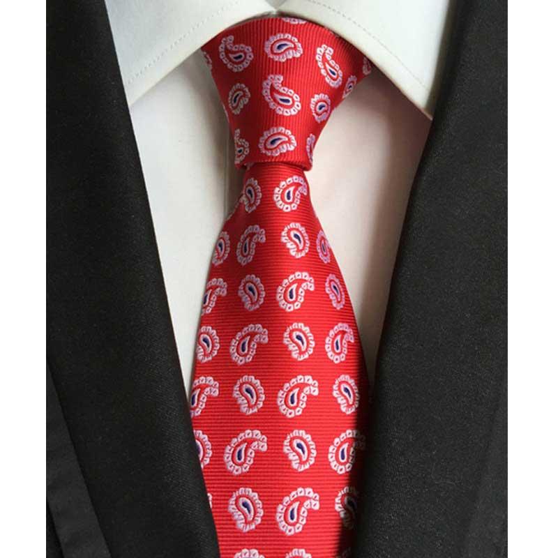 8CM Mens Classic Ties 100% Silk Multi Paisley Jacquard  Neck Tie Wedding Party