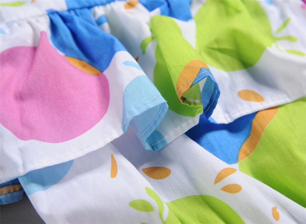 UK Kids Girls Prints Stretch Waist Swing Skater Sundress Party Dress Age 5-13Y