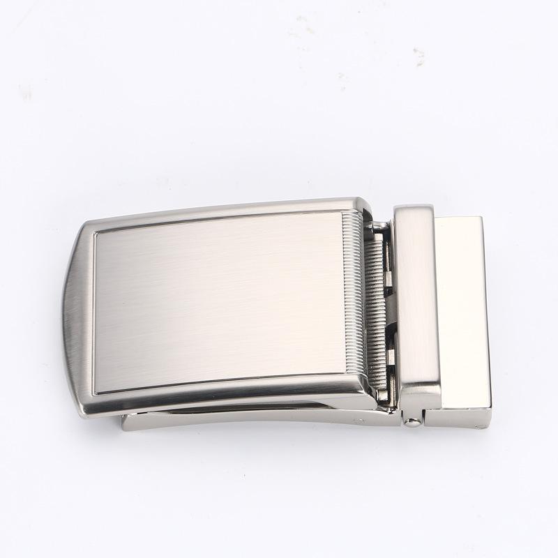 Mens Solid Alloy Buckle Automatic Ratchet Belt Buckle 3.5cm//1.4inch Width