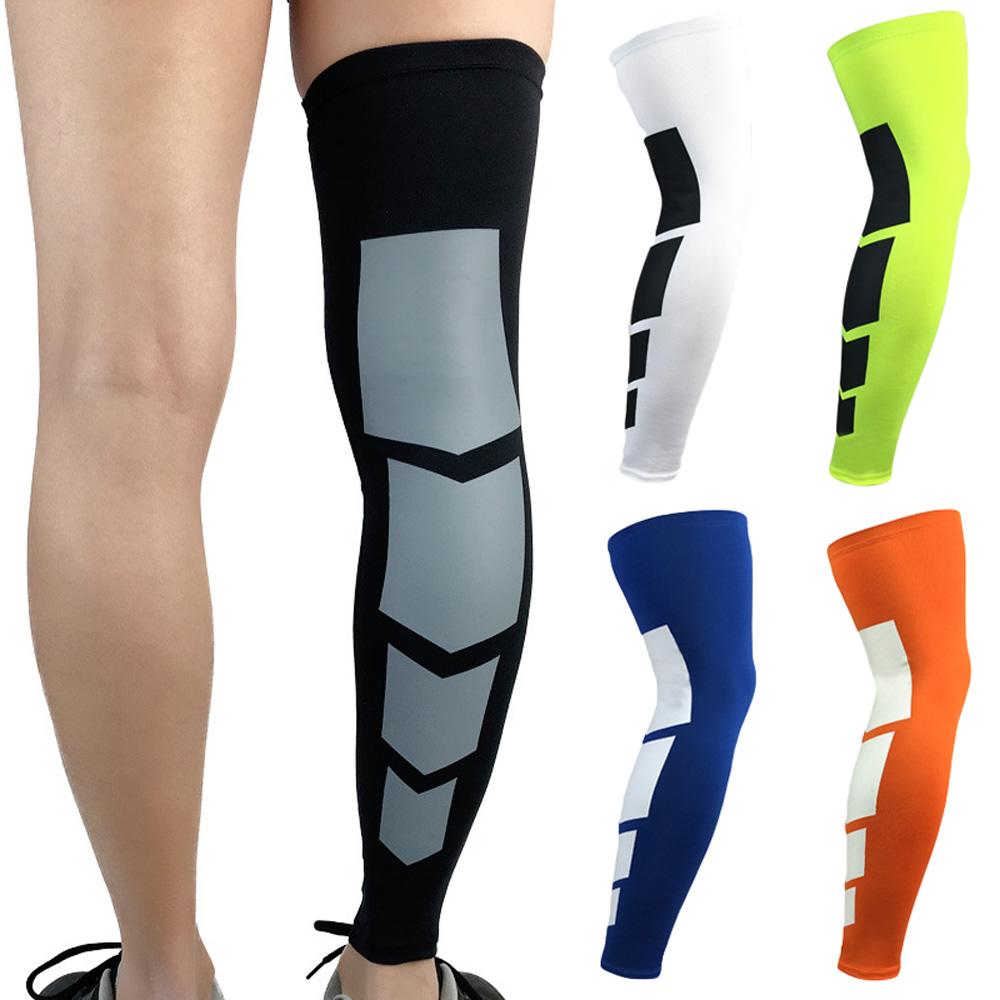 Elastic Breathable Sport Leg Sleeve Protector Basketball Running Kneepad Knee Pad Socks