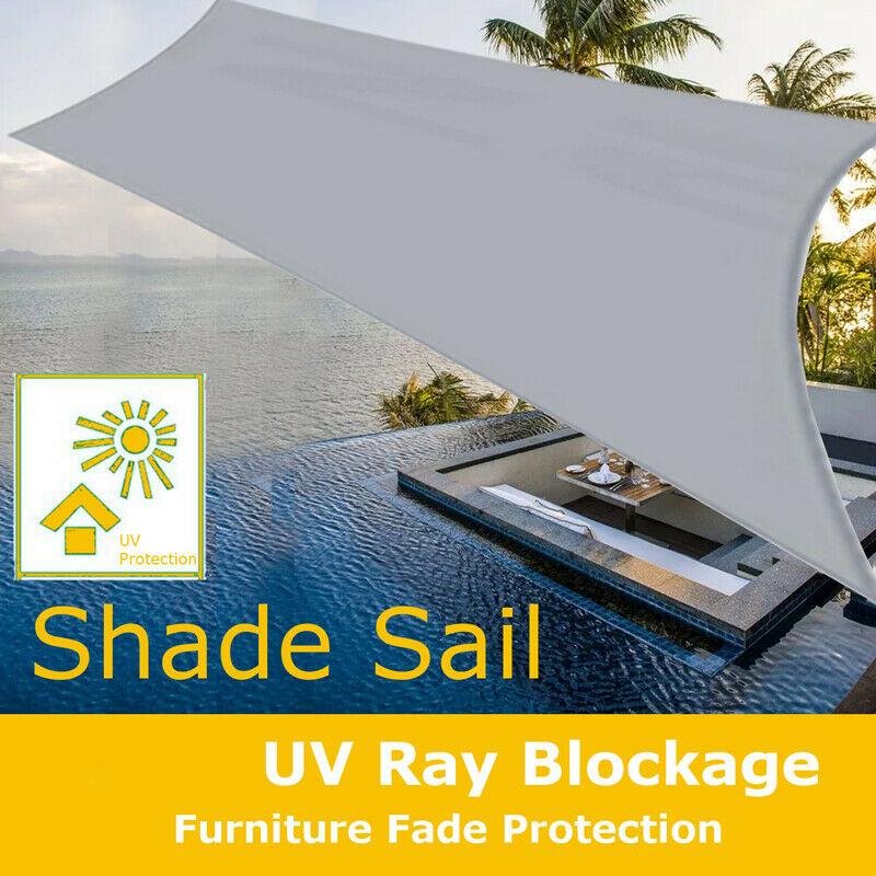 Sonnensegel Sonnenschutz Windschutz Rechteck Segel Beschattung Wasserdicht NEU~