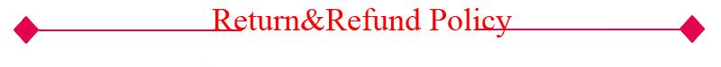 return&refund policy