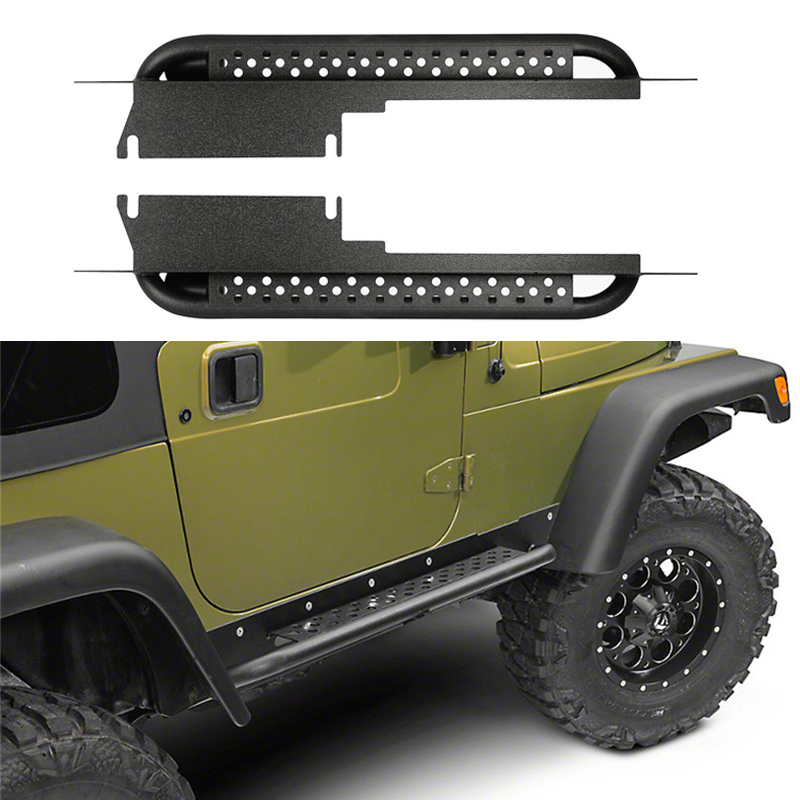 Steel Integrated Side Step Nerf Bar Running Board Fit 97
