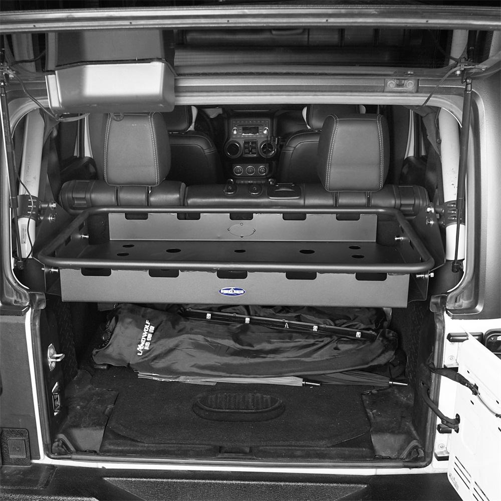 Black Interior Cargo Rack For 07 18 Jeep Wrangler Jk