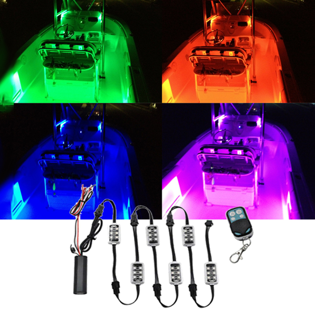 8pcs Waterproof White Yacht Interior LED Lights For Boat Accent Kit Bright Strip