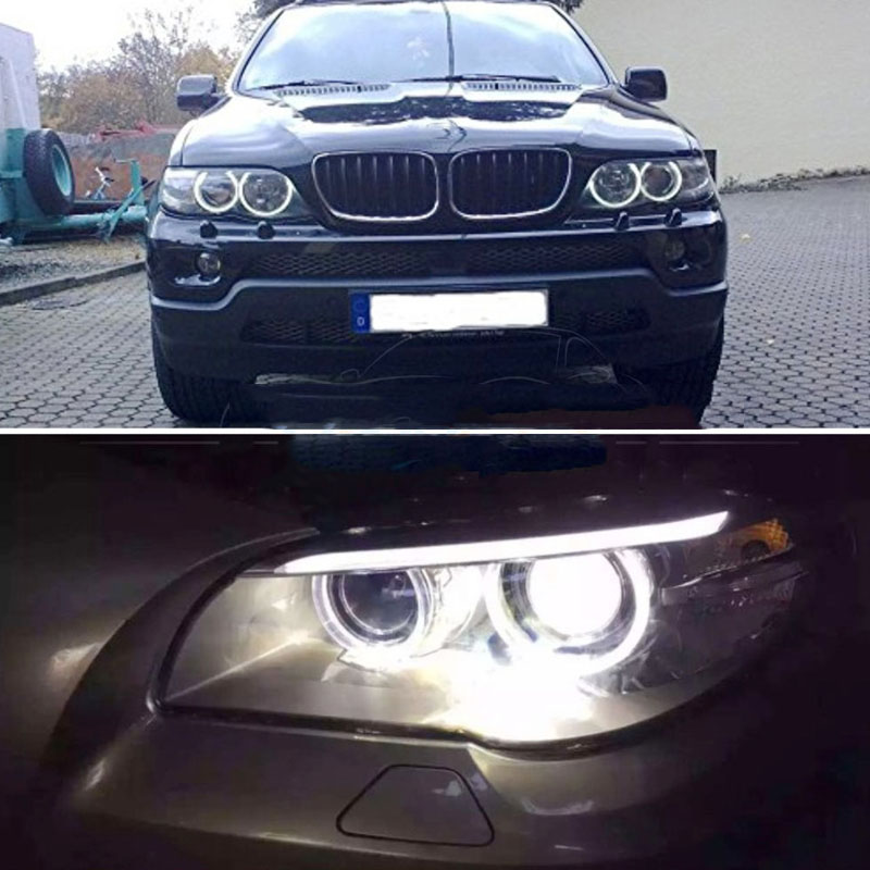 2X 40W H8 LED Angel Eye Halo Ring Marker Light Bulb HID Xenon White For BMW
