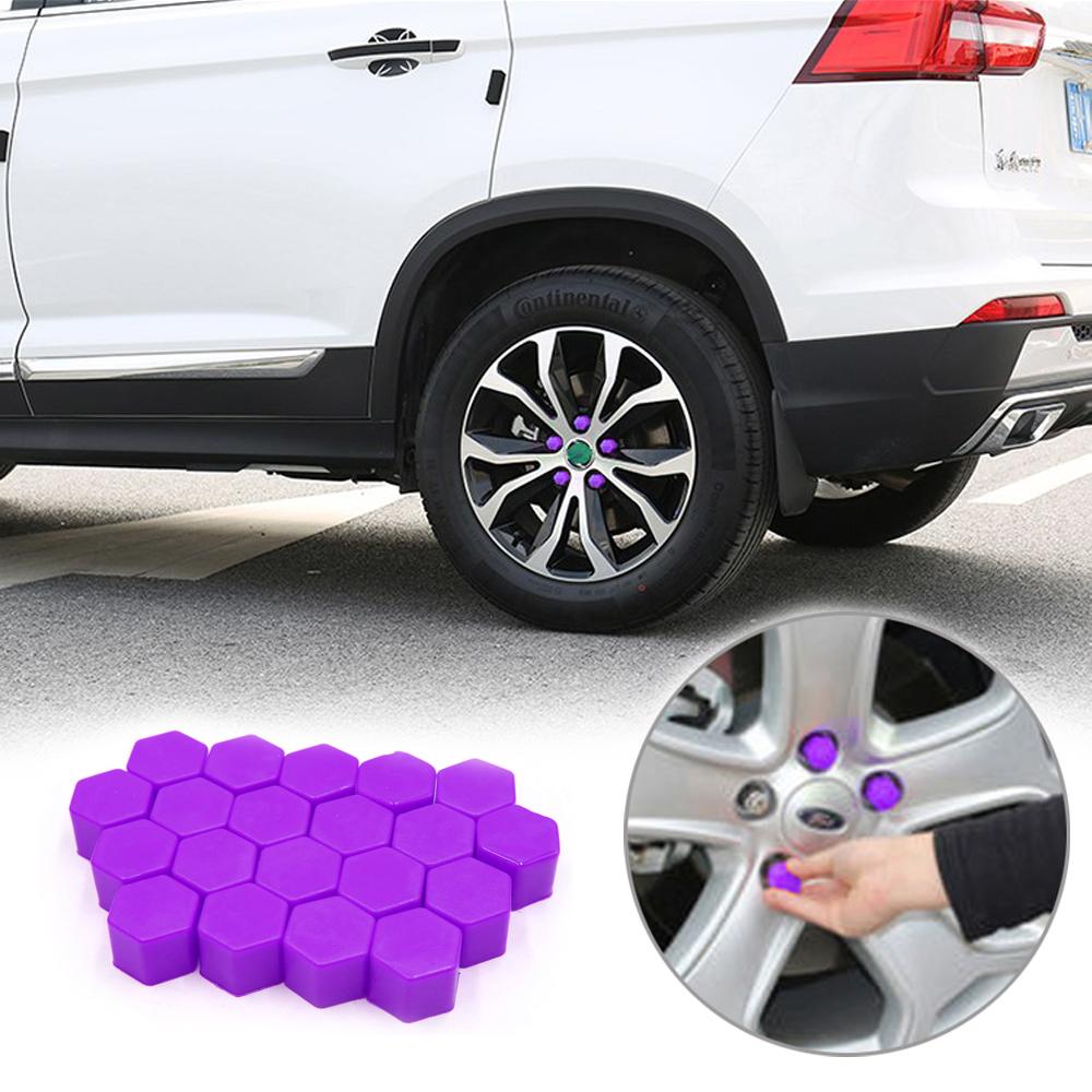 20Pc Car Wheel Nut Cap Bolt Rims Auto Hub Screw Cover Exterior Decoration 19mm