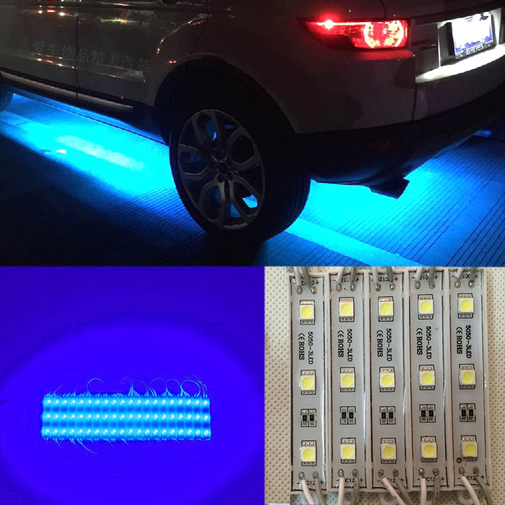 Details About Crystal Vision Led 4x4 Off Road Jeep Under Body Rock Lights Bright Blue 5 Pcs