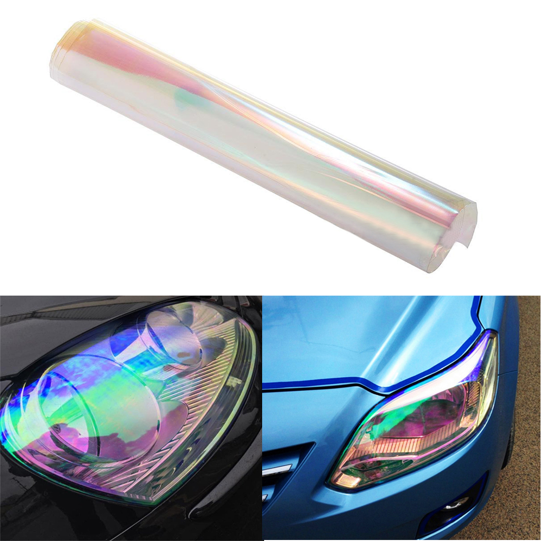 30*200 CM Car Body Chameleon Colorful Clear Film Vinyl Wrap Headlight Film New