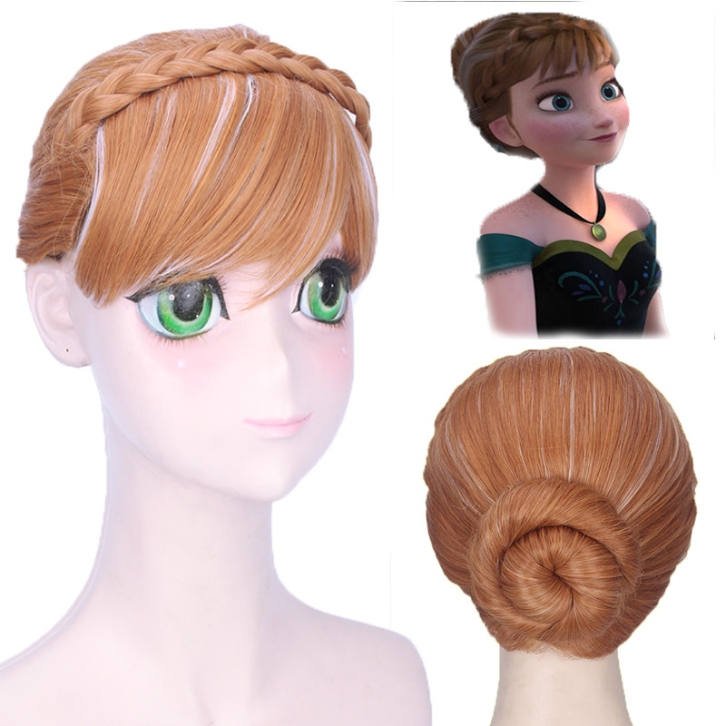 US New Frozen Princess Anna Inspired Halloween Cosplay Braided Wig Elsa H0161