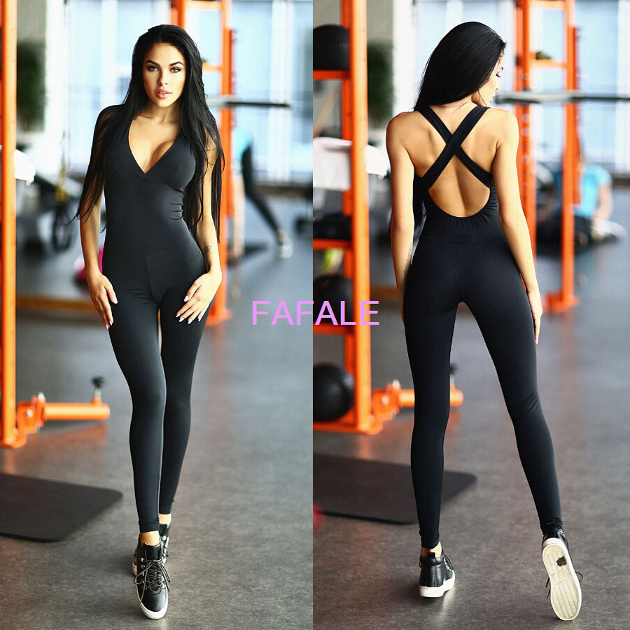 CA Womens Gym Yoga Running Lady Sports Fitness Leggings Pants Jumpsuit Athletic