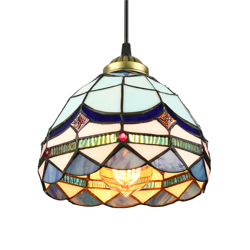 Details About Tiffany Clic Stained Gl Pendant Lamp Baroque Dome Ceiling Lighting Fixture