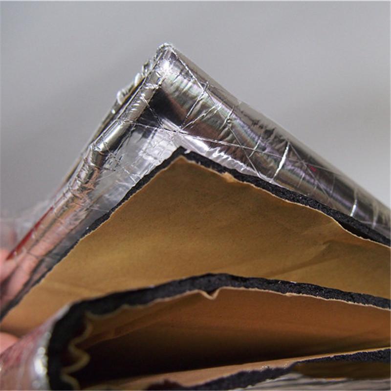 140x100cmx0.5cm high quality adhesive Car Hood Engine Heat Mat Aluminum Foil 1PC