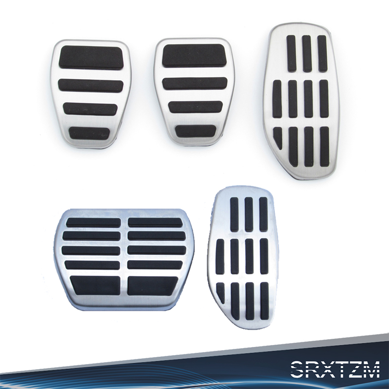 Stainless Steel Pedal Caps For Qashqai J11 X-Trail Rogue T32 Altima Gas Fuel Brake Foot Pedal Pad Plate