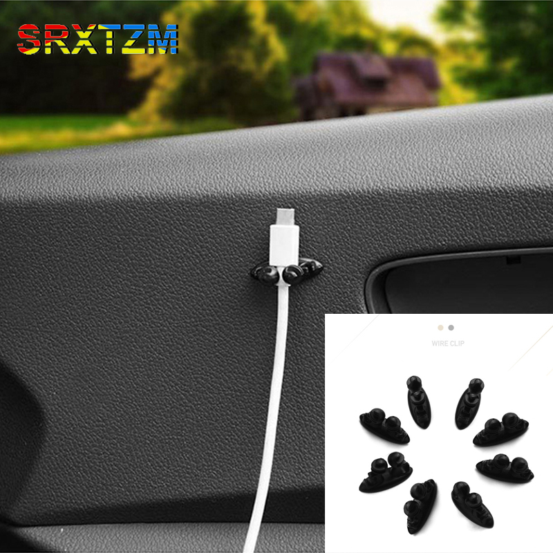 8x//set self adhesive Car Wire Clip Stickers For BMW 3 5 7 universal car SUV LB