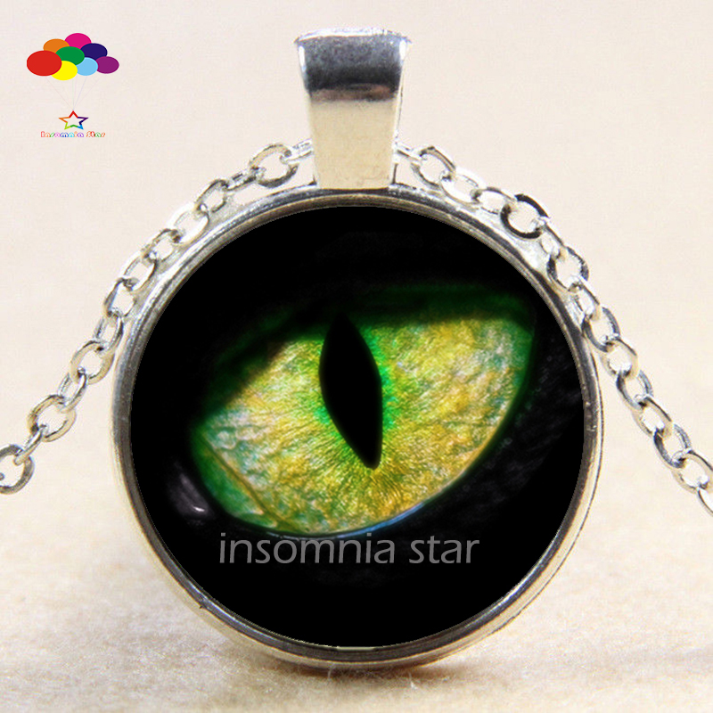 Jewelry & Watches necklace pendant watch LEOPARD NECKLACE photo Tibet silver Cabochon glass pendant chain Necklace