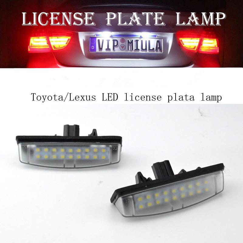 2PCS 18 LEDs Car License Plate Lamp Light For Lexus IS200/IS300 ...
