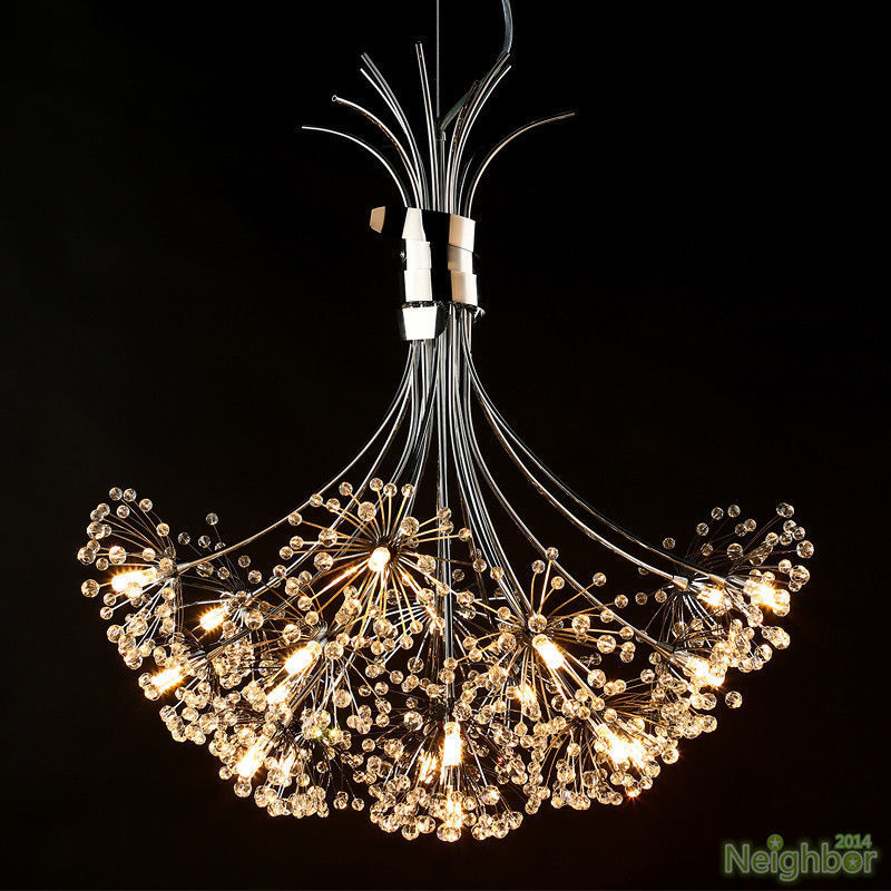 K9 Modern Crystal LED Ceiling Light Pendant Lamp Fixture Lighting Chandelier L97