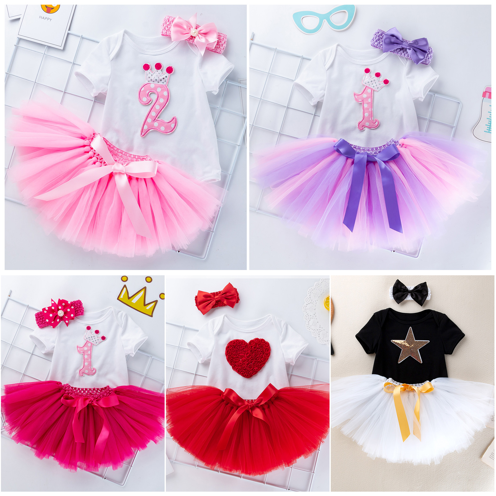1st Birthday Dress For Baby Girl.Details About 3pcs Infant Baby Girls 1st Birthday Dress Outfits Romper Tutu Skirt Clothes