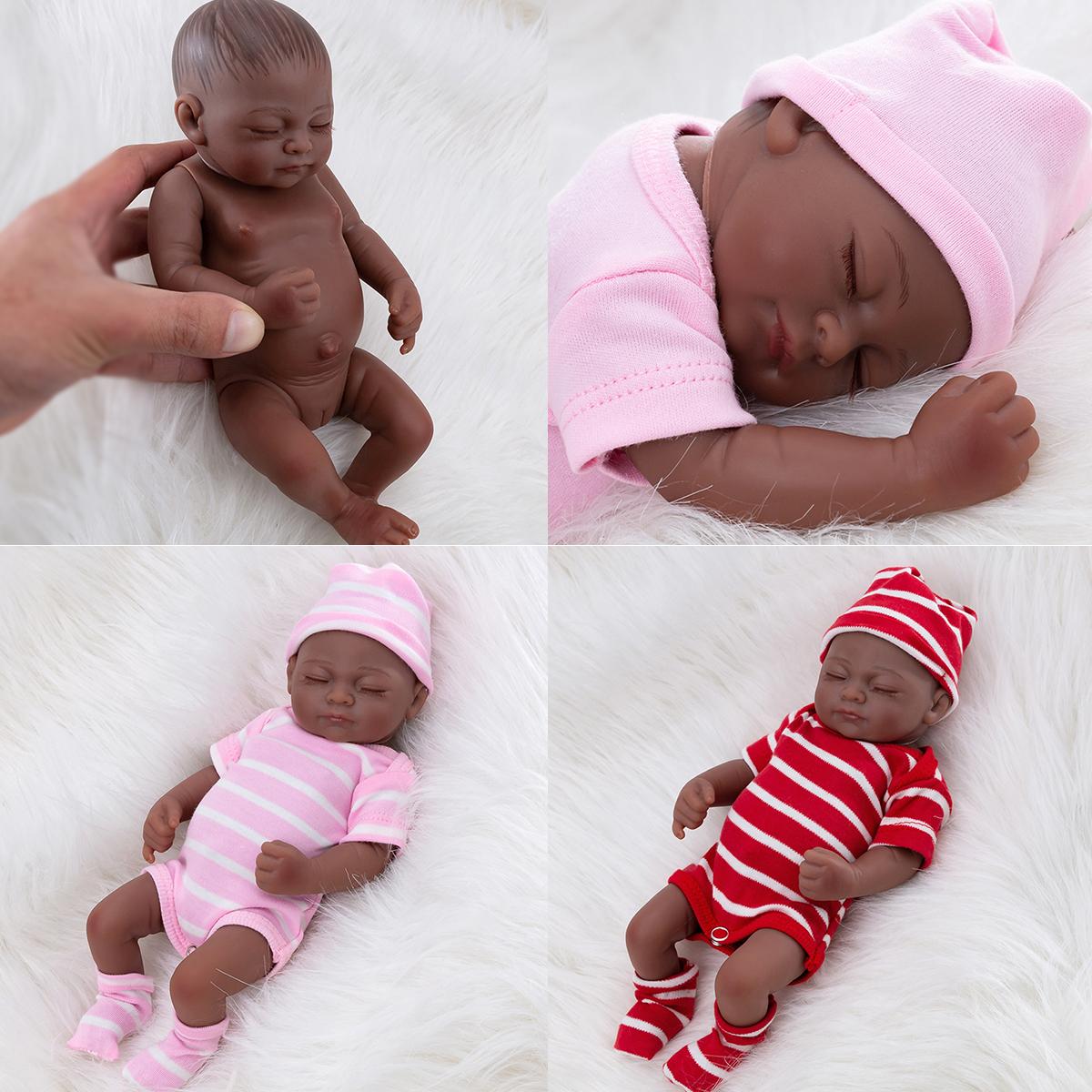 11 African American Reborn Baby Girl Doll Vinyl Sleeping Newborn Black Dolls Ebay