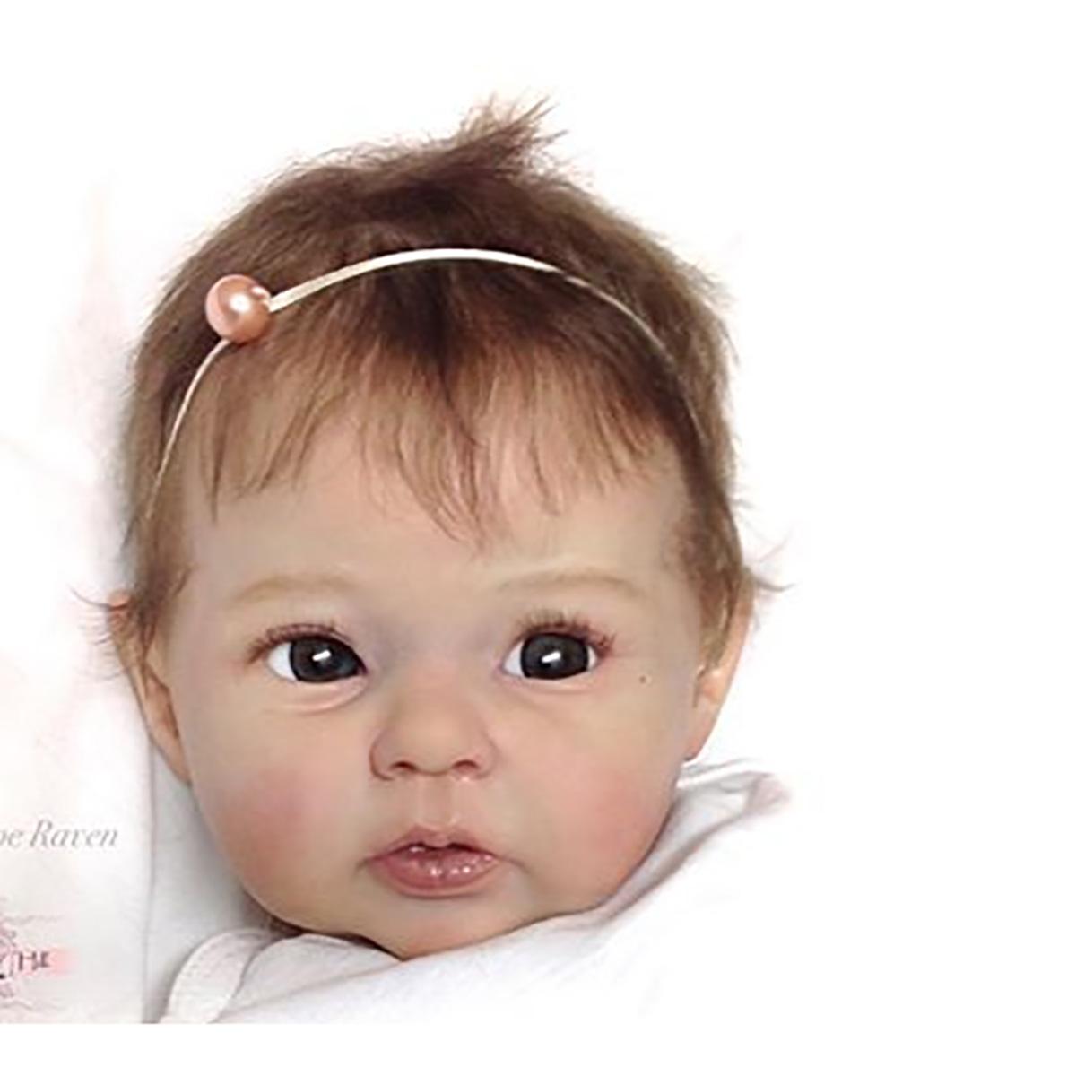 Newborn Doll Kit Reborn Dolls Supplies Unpainted Soft