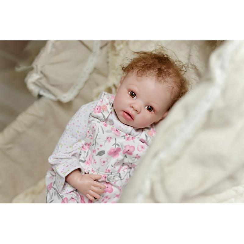"Reborn Dolls Unpainted Kits Soft Vinyl Head 3//4 Limbs For Making 20-22/"" Baby DIY"