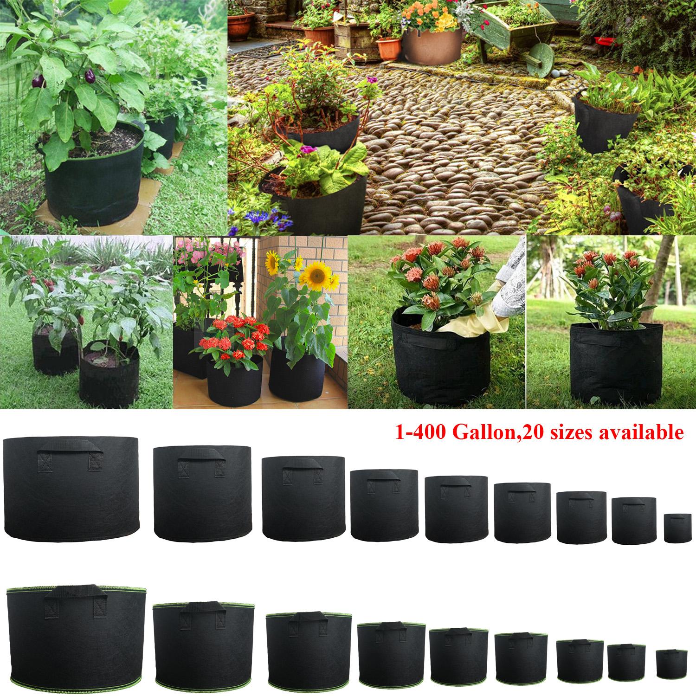 Details About 1 300 Gallon Fabric Grow Pots Breathable Plant Pack Smart Bags Handle