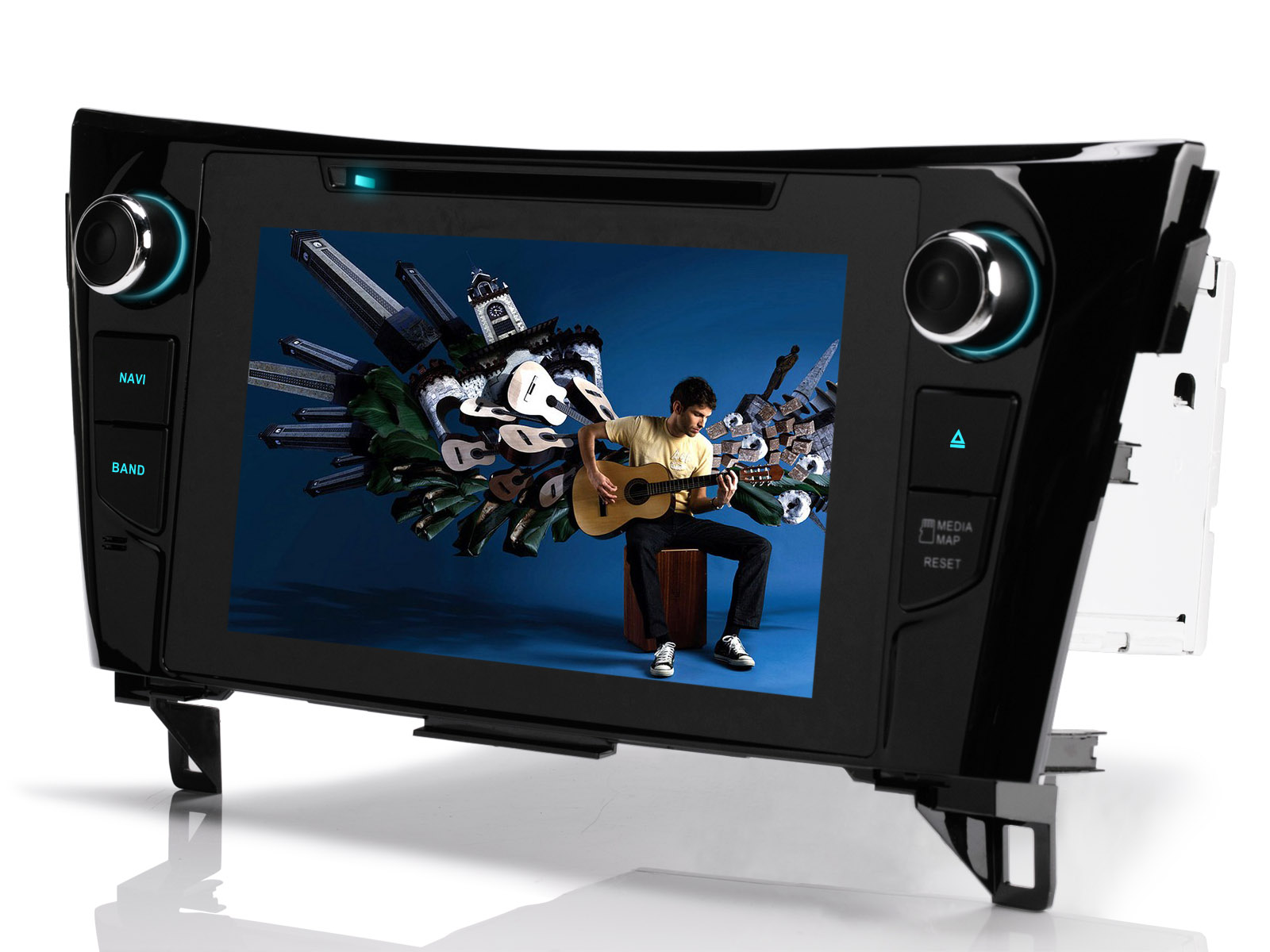 8 hd dvd autoradio navi gps tft rds spieler f r nissan. Black Bedroom Furniture Sets. Home Design Ideas