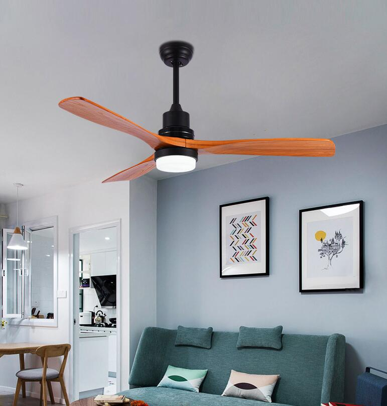 Nordic Wooden Led Chandelier Ceiling Fans With Lights Cooling Remote Fan Lamp Ebay