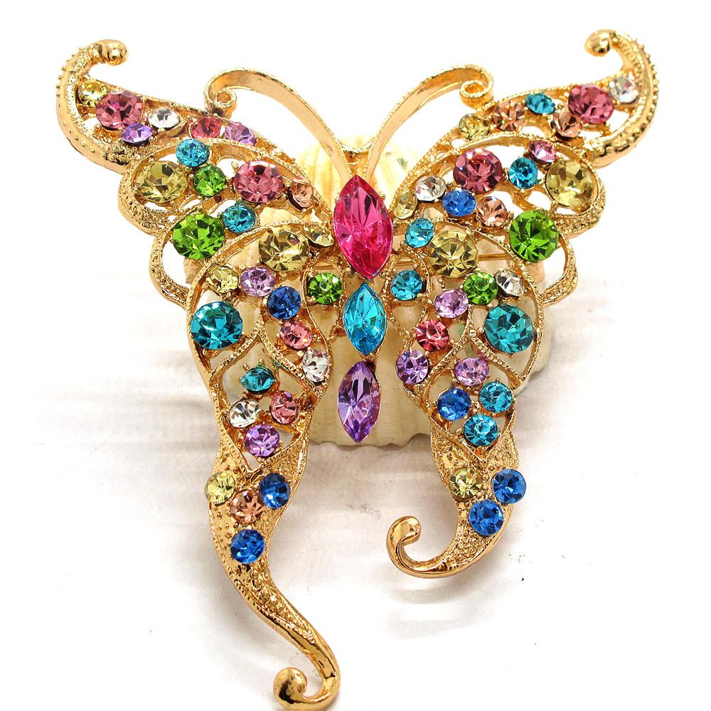 Pin By Crystal Johnson On Baldwin Hills Dam Break: Hot Betsey Johnson Multicolor Rhinestone Cute Butterfly