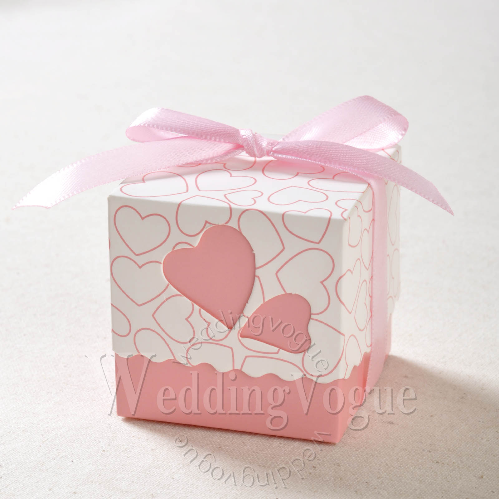 50 / 100 / 200pcs Heart-shaped Window Wedding Favor Gift Boxes ...