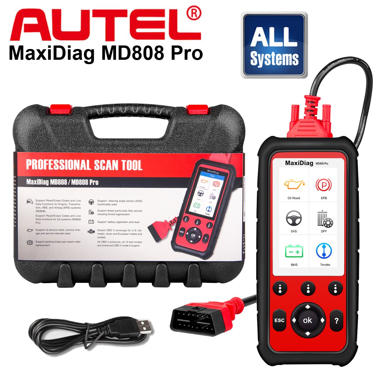 Autel MD808 Pro OBD2 Auto Diagnostic Tool Scanner//Service PRO Codereader Tool