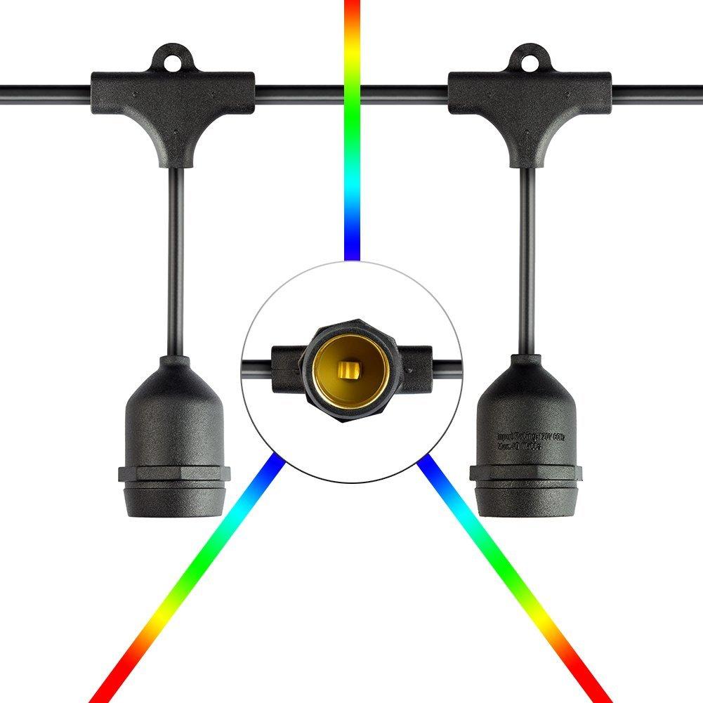 25.9ft Hanging Indoor/Outdoor Festoon String Lights For