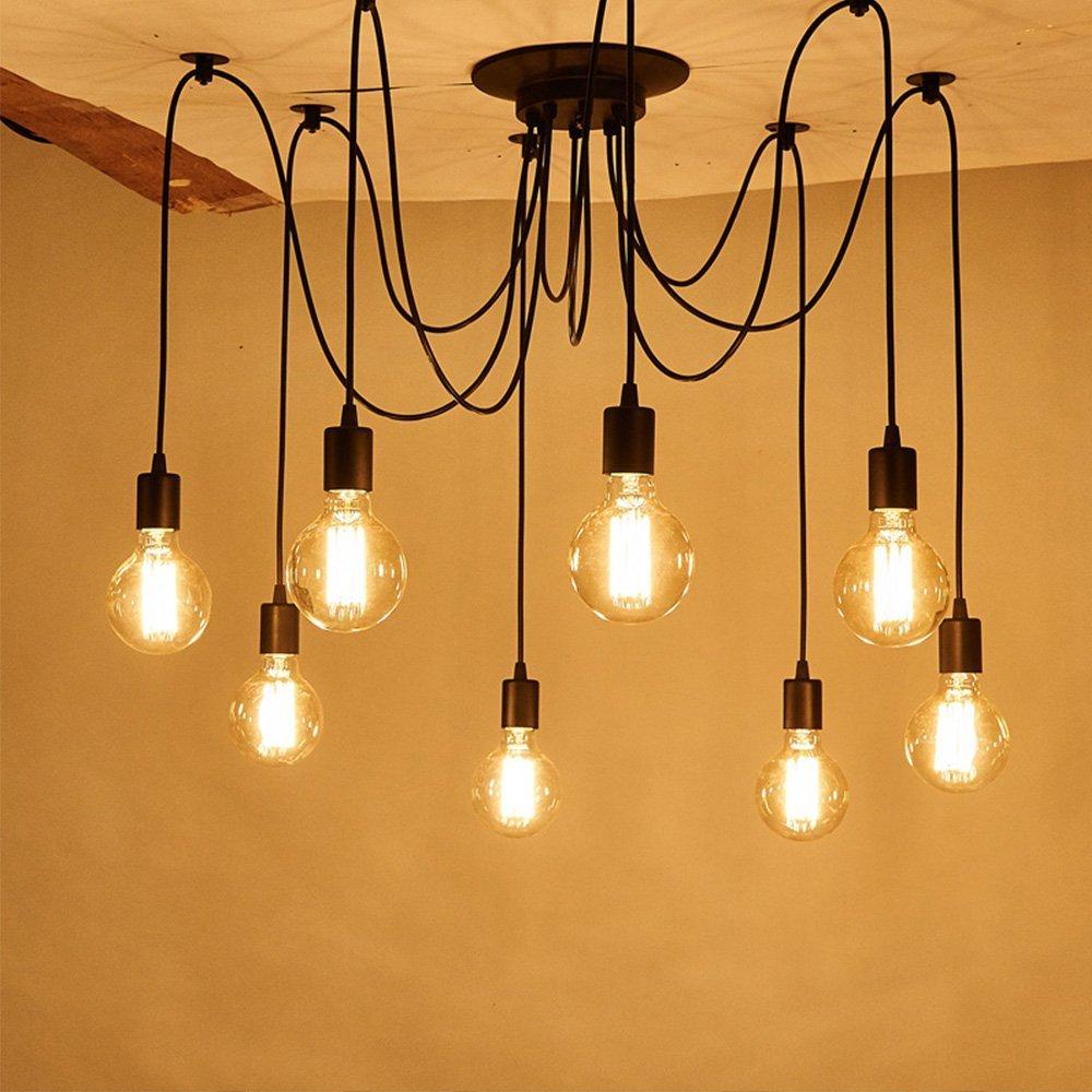 Chandelier lamp holder ceiling pendant lamp diy spider light e27