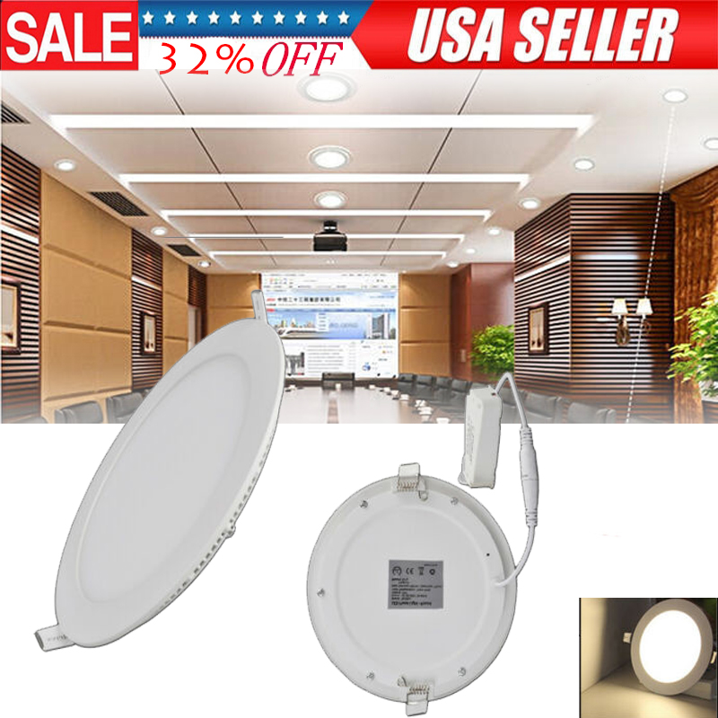 """10X 15W 7/"""" Round Natural White LED Recessed Ceiling Panel Down Lights Bulb Lamp"""