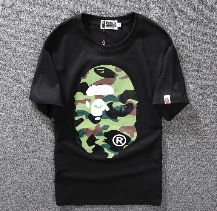 0d082212b Details about 2018 Bape Tshirt Tee Front Camo Prints A Bathing Ape Casual  Short Sleeve T-Shirt