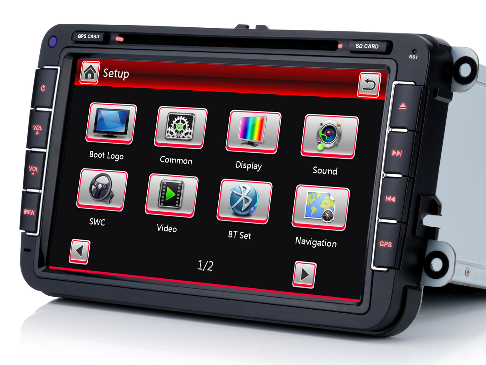 r ckfahrkamera 8 autoradio nav dvd gps f r vw golf 5. Black Bedroom Furniture Sets. Home Design Ideas