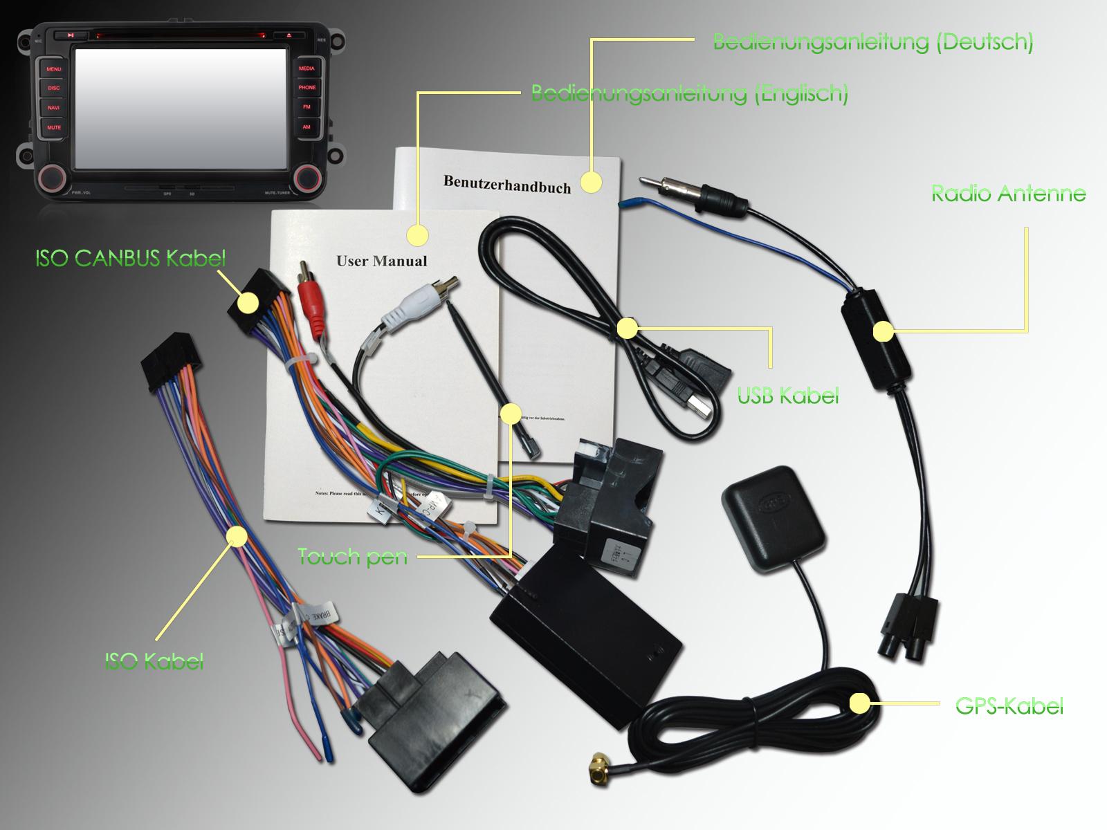 Autoradio NAVI DVD GPS CD Für VW GOLF 5 6 PASSAT TIGUAN TOURAN ...
