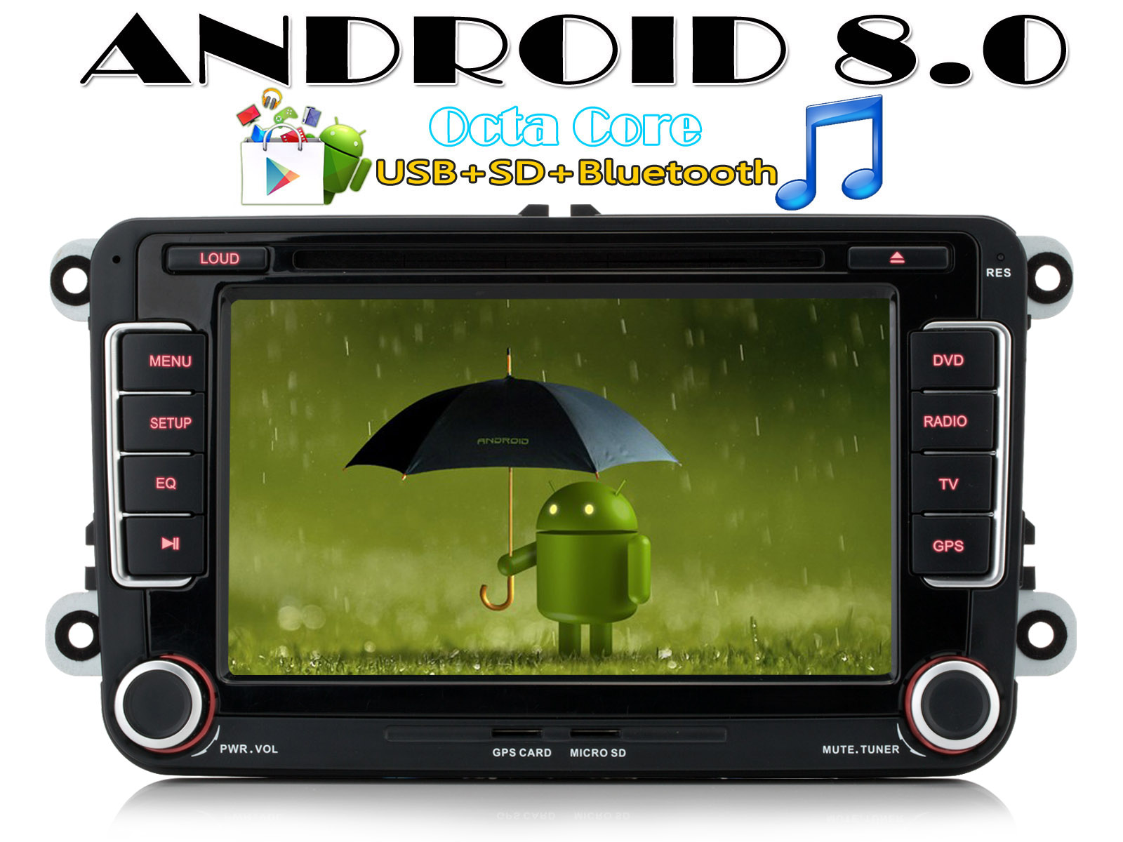 dab autoradio gps android 8 0 32gb rom 7 per vw tiguan. Black Bedroom Furniture Sets. Home Design Ideas