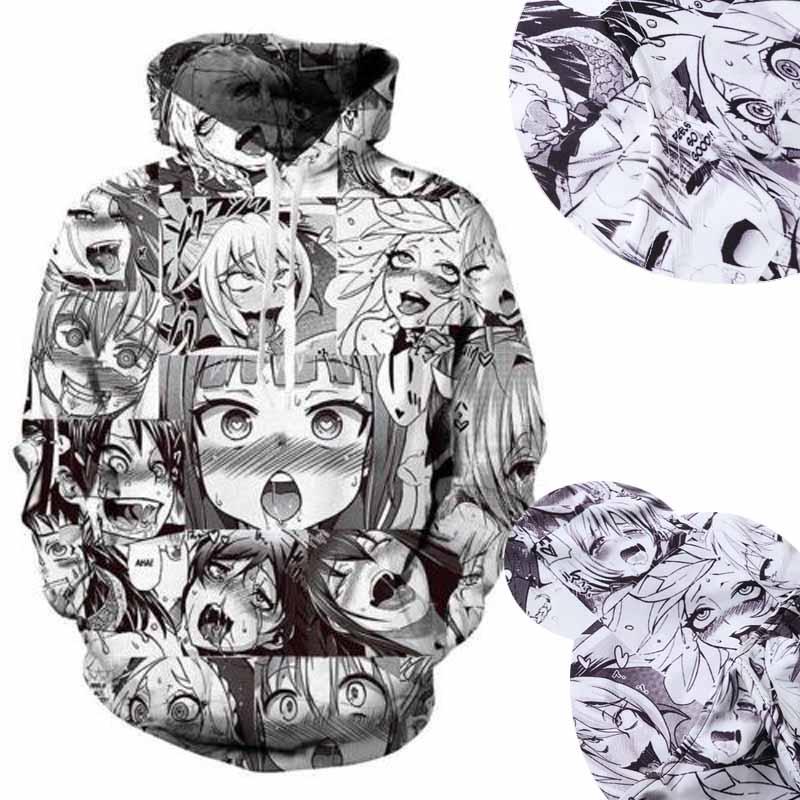 Funny Emoji Ahegao Anime 3d Print Women Men S Pullover
