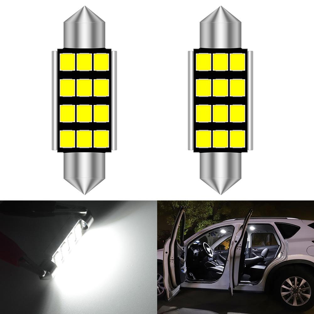 37mm 6 LED SMD Car Festoon Bulb Double Dome Light Lamp Lighting,White