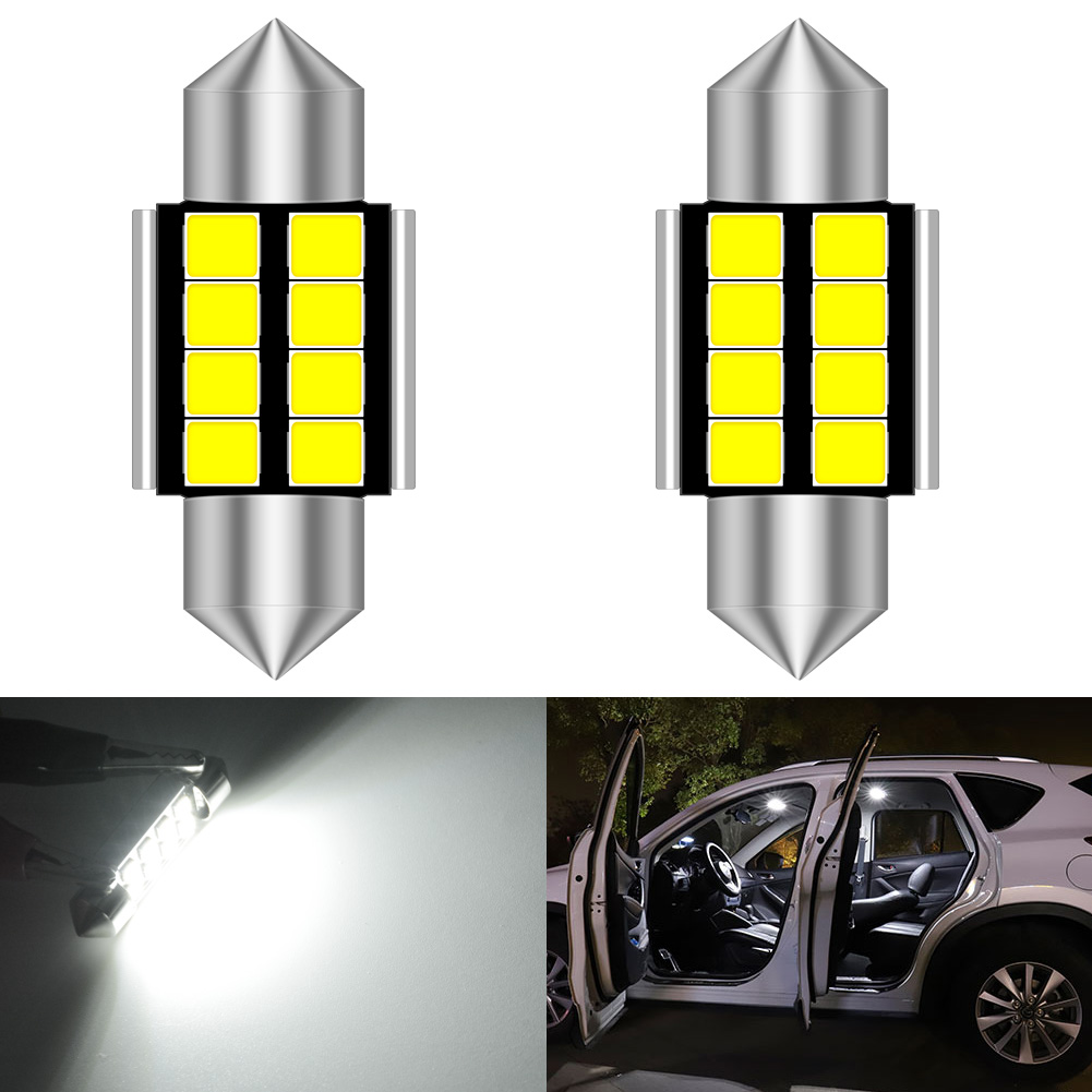 Car LED Light Bulbs Dome Interior License Registration Festoon Number Plate Lamp