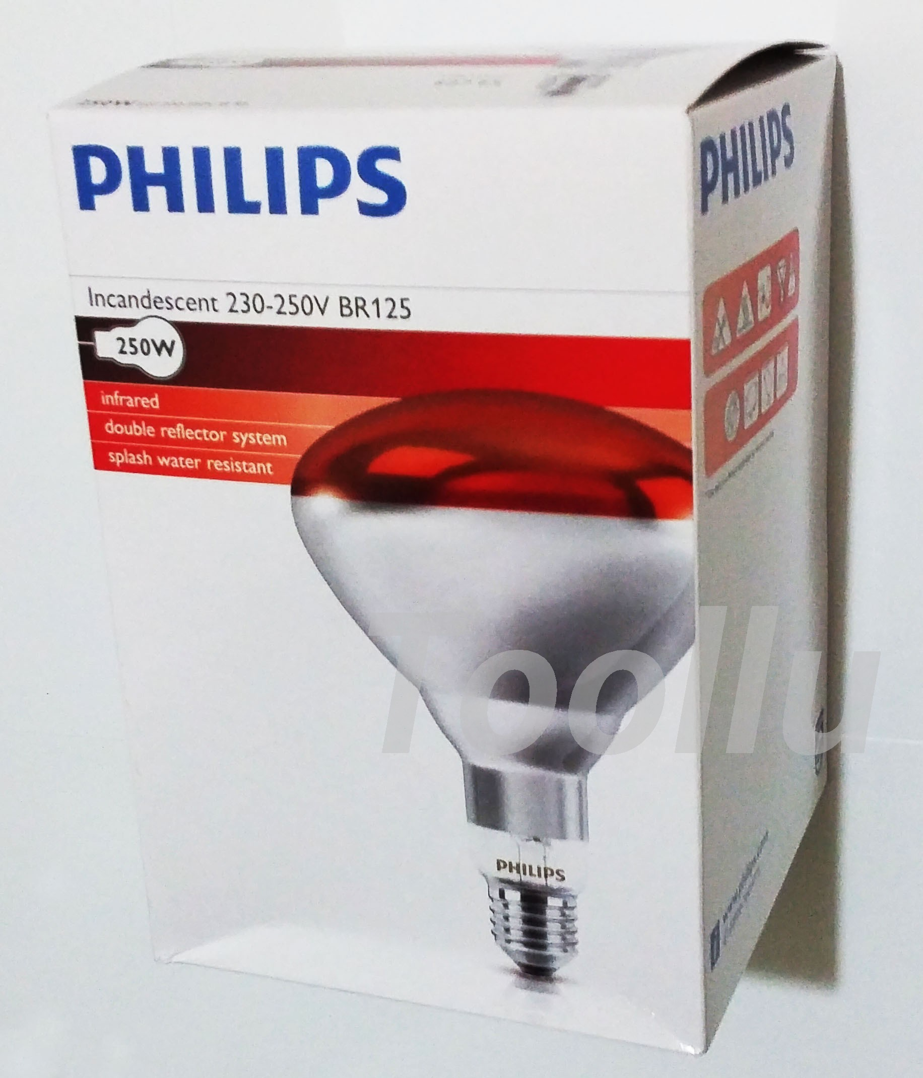 Philips Infrared Heat Light Lamp E27 Bulb 100W 150W 250W 220V 230V ... for Philips Infrared Heat Lamp  165jwn