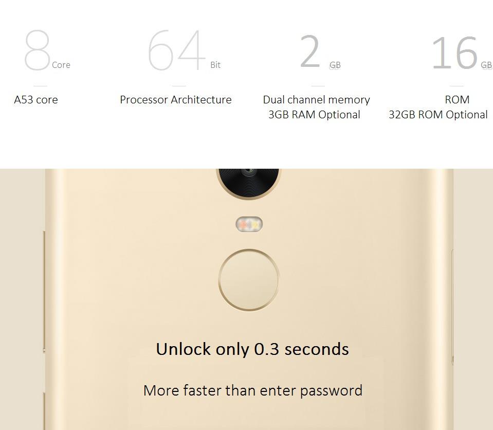 Original Xiaomi Redmi Note 3 Pro Snapdragon 650 Hexa Core 4g Lte 2 16gb Silver Fingerprint Id