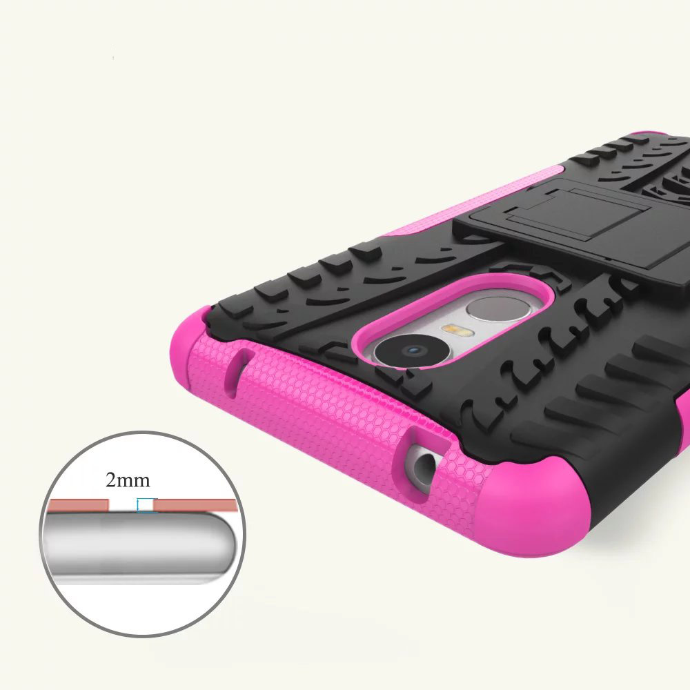For Lenovo K6 Note Shock Rugged Hybrid Armor Silicon Gel Case Hard Stand Cover